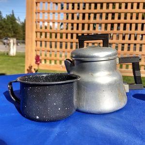 Vintage Wearever 3002 Mini Coffee Percolator & Cup